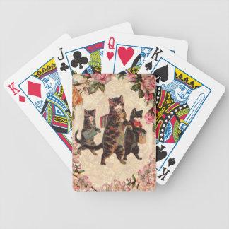 Jogos De Baralho Vintage bonito dos gatos do gatinho