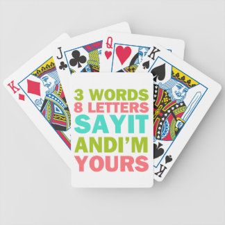 Jogos De Baralhos 3 palavras 8 letras dizem que e eu somos seus