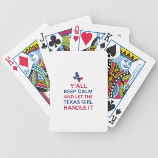 Jogos De Baralhos Camisetas da menina de Texas