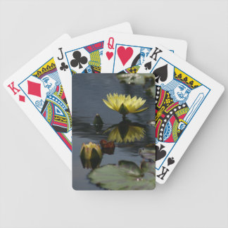 Jogos De Baralhos Cartões de jogo amarelos de Lotus Waterlilies