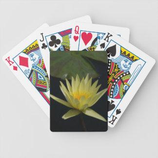 Jogos De Baralhos Cartões de jogo amarelos de Lotus Waterlily