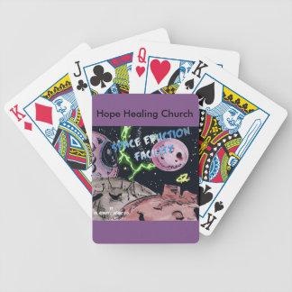 Jogos De Baralhos Cartões de jogo cristãos do espaço da ficção