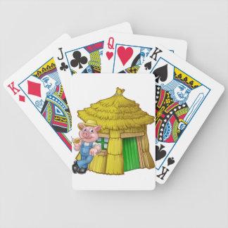 Jogos De Baralhos Casa pequena da palha do conto de fadas de três