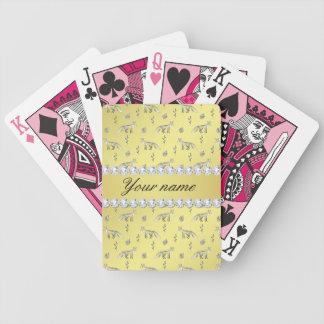 Jogos De Baralhos Diamantes elegantes de Bling da folha de ouro do