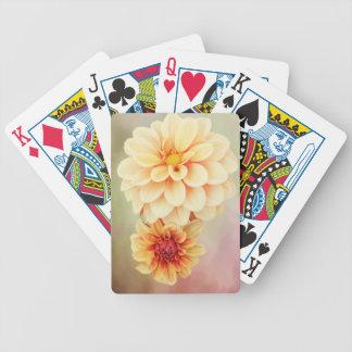 Jogos De Baralhos Flores bonitas da dália em matiz mornas