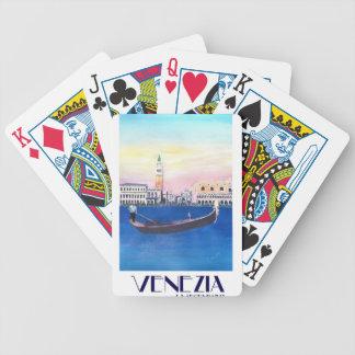 Jogos De Baralhos Gôndola de Veneza Italia no canal grande com San