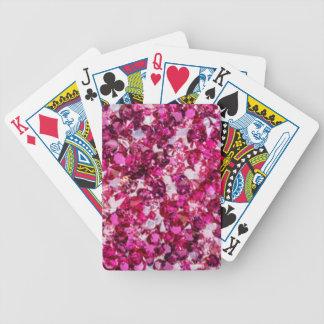 Jogos De Baralhos Multi rosa Diamomds da cor