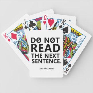 Jogos De Baralhos Não leia a frase seguinte você pouco Reble