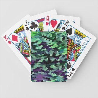 Jogos De Baralhos Pop art abstrato da folha no verde e no roxo de