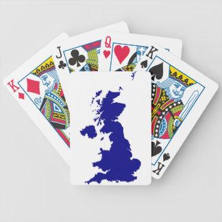 Jogos De Baralhos U.K. e silhueta de Irlanda do Norte
