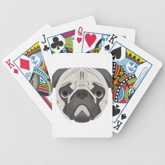 Jogos De Cartas A ilustração persegue o Pug da cara