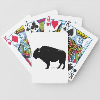 Jogos De Cartas Bisonte preto & branco do búfalo do pop art