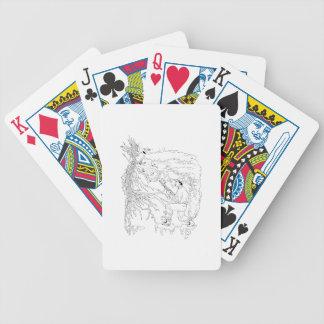 Jogos De Cartas Caçador e faisão Ukiyo-e