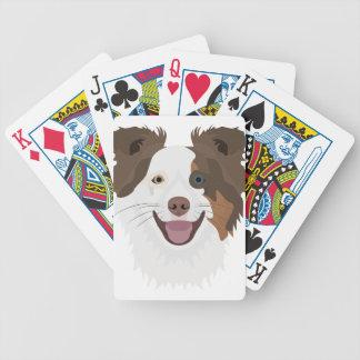 Jogos De Cartas Cara feliz border collie dos cães da ilustração
