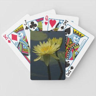Jogos De Cartas Cartões de jogo amarelos de Lotus Waterlilies