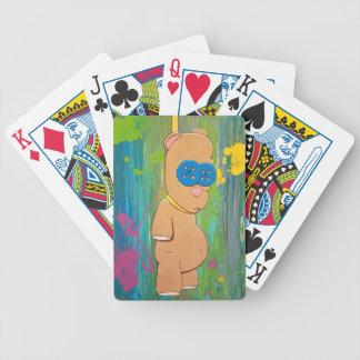 Jogos De Cartas Cartões de jogo de suspensão do urso
