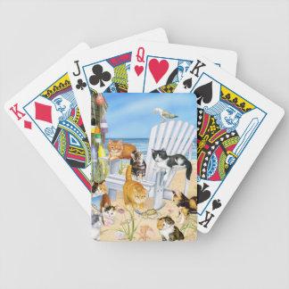 Jogos De Cartas Cartões de jogo dos gatinhos do vagabundo da praia