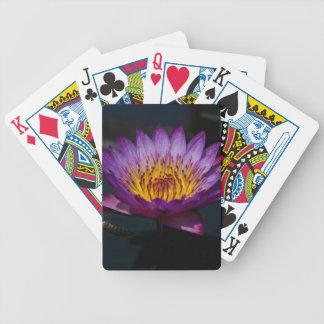 Jogos De Cartas Cartões de jogo roxos de Lotus Waterlily