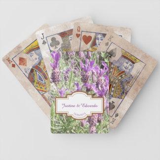 Jogos De Cartas Casamento personalizado flores da lavanda francesa
