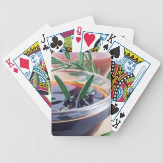 Jogos De Cartas Copo de vidro com molho e rosemary de soja