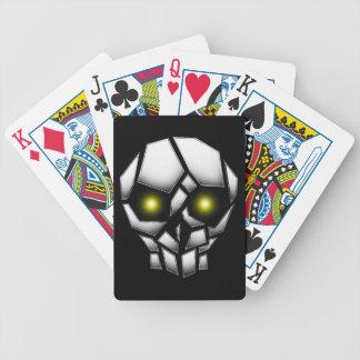 Jogos De Cartas Crânio chapeado cromo com olhos de incandescência