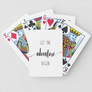 Jogos De Cartas Deixe a aventura começar citações