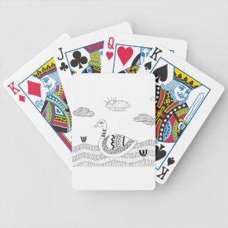 Jogos De Cartas Doodle preto e branco da cisne