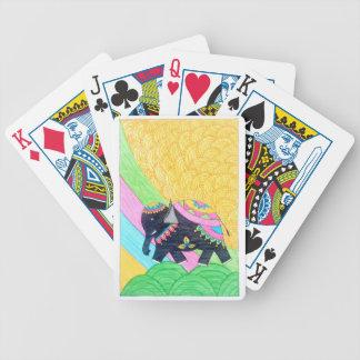 Jogos De Cartas Elefante pequeno bonito colorido do madhubani