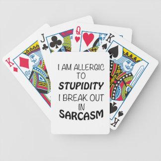 Jogos De Cartas Eu sou alérgico à estupidez que eu estoiro no