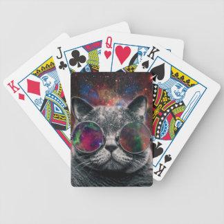 Jogos De Cartas Gato do espaço que veste óculos de proteção na