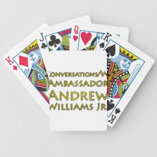 Jogos De Cartas Jr. das conversações w/Ambassador Andrew Williams