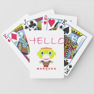 Jogos De Cartas Macaco-Morocko Olá!-Bonito