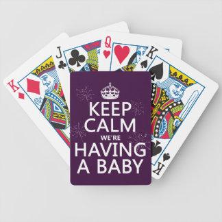 Jogos De Cartas Mantenha a calma que nós estamos tendo um bebê (em