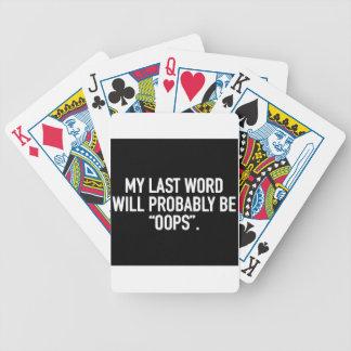 Jogos De Cartas Minha última palavra