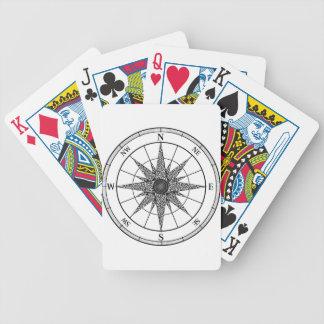Jogos De Cartas O vintage do compasso aumentou