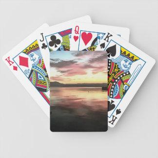 Jogos De Cartas Por do sol refletido na água