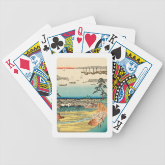 Jogos De Cartas Shinagawa, Japão: Impressão de Woodblock do
