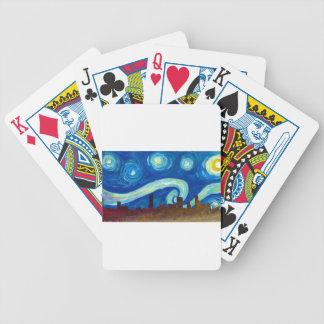 Jogos De Cartas Silhueta da skyline de Austin com noite estrelado