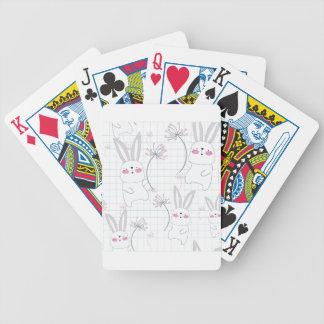 Jogos De Cartas Teste padrão bonito bonito do cinza azul do coelho