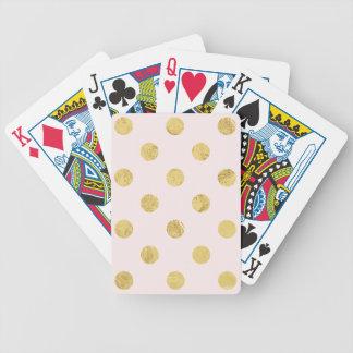 Jogos De Cartas Teste padrão de bolinhas elegante da folha de ouro