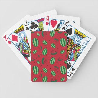 Jogos De Cartas Teste padrão do vermelho da melancia