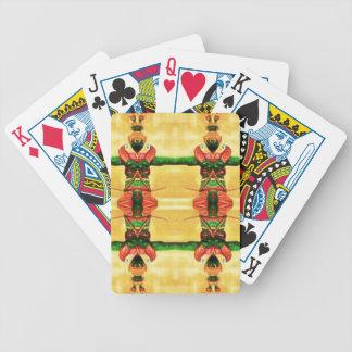 Jogos De Cartas Verde amarelo da guarda psicadélico