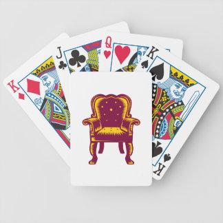 Jogos De Cartas Woodcut grande barroco da cadeira do braço