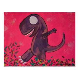 Jogos de T-Rex nas folhas Cartão Postal