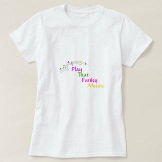 Jogue esse t-shirt Funky da música Camiseta