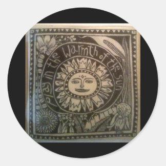 jogue no calor do azulejo do sol adesivos redondos