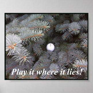Jogue-o onde se encontra poster do golfe