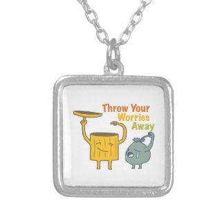 Jogue sua colar ausente da prata esterlina das