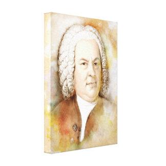 Johann Sebastian Bach em canvas - Aguarela-Estilo
