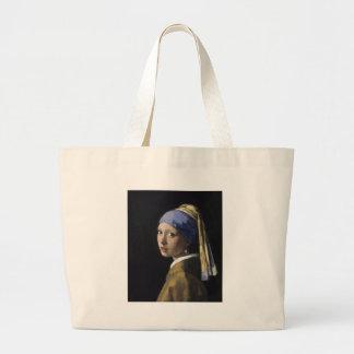 Johannes Vermeer - menina com um brinco da pérola Bolsas Para Compras